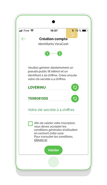Application VeraCash